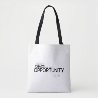 QUOTES: Sun Tzu: Midst of chaos: opportunity Tote Bag