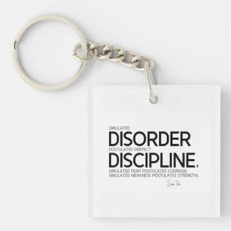 QUOTES: Sun Tzu: Perfect discipline Key Ring