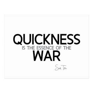 QUOTES: Sun Tzu: Quickness Postcard