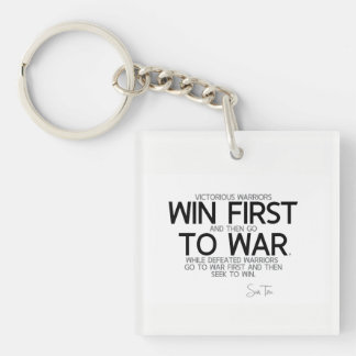 QUOTES: Sun Tzu: Win first then go to war Key Ring