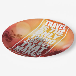 Quotes-Travel Paper Plate