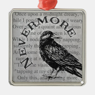 Quoth the Raven Metal Ornament