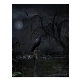 """Quoth the Raven, 'Nevermore'"" Gothic Poster"