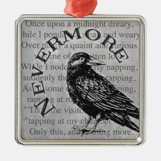 Quoth the Raven Silver-Colored Square Decoration