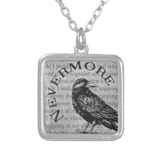 Quoth the Raven Silver Plated Necklace