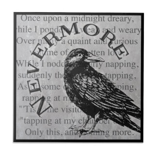 Quoth the Raven Small Square Tile