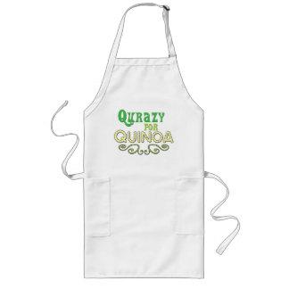 Qurazy for Quinoa © - Funny Food Quinoa Slogan Long Apron