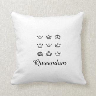 Qweendom Throw Pillow