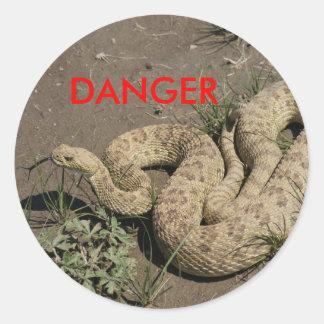 R0006 Rattlesnake Round Sticker