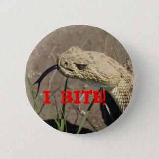 R0008 Rattlesnake 6 Cm Round Badge