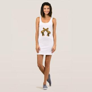 R2R Gold Gun Sleeveless Dress