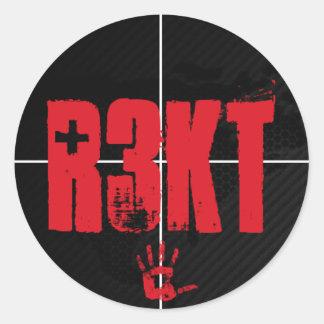 R3KT Classic Round Sticker, Glossy Classic Round Sticker