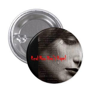 r9, Real Men Don't Rape! Pinback Buttons