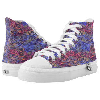 R_B High Tops Shoes Printed Shoes