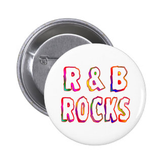 R & B Rocks 6 Cm Round Badge