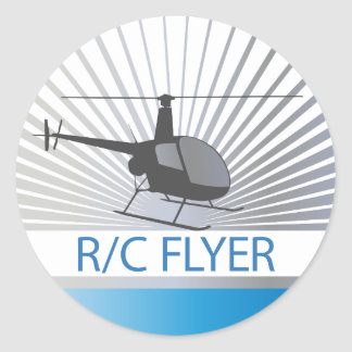 R-C Flyer Copter Sticker