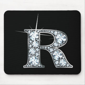 """R"" Diamond Bling Mousepad"