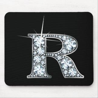 """R"" Diamond Bling Mousepad"