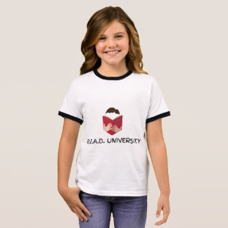 R.E.A.D. University Girl's Ringer T-Shirt