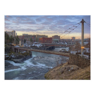 R F P Pedestrian Bridge - Spokane Washington Poster