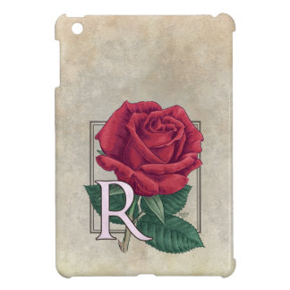 R for Rose Flower Monogram Case For The iPad Mini