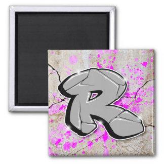 R - Graffiti letter magnet