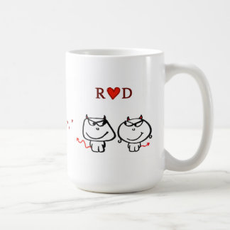 """""""R heart D (one initial only)"""" Coffee Mug"""