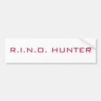 R.I.N.O. HUNTER BUMPER STICKER