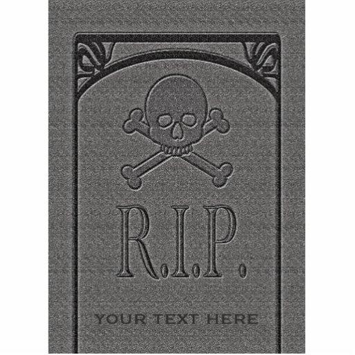 R.I.P. Custom Name Gravestone Halloween Props Cut Out