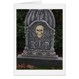 R.I.P Headstone - photograph Card
