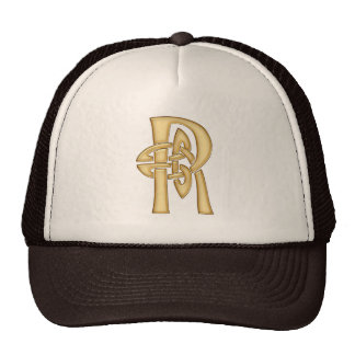 R Initial-Branded Personalised Fashion Hat