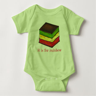 R is for Rainbow Italian Seven Layer Cookie ABCs Baby Bodysuit