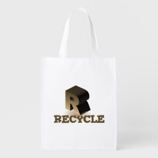 R IS FOR RECYCLE REUSABLE GROCERY BAG