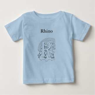 R is for Rhino Baby T-Shirt