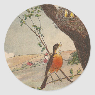 R is for Robin Classic Round Sticker