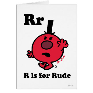 R is for Rude Greeting Card