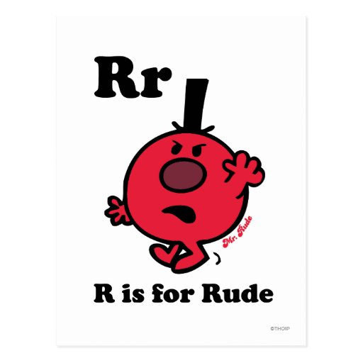 R is for Rude Post Card