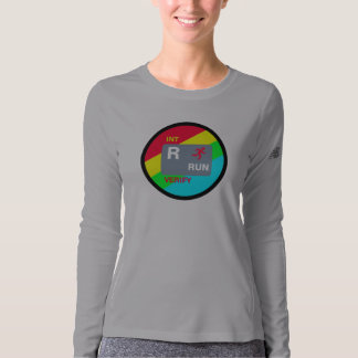 R is for Run Women's LS performance shirt