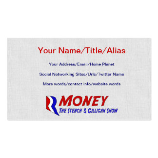 R-MONEY PACK OF STANDARD BUSINESS CARDS