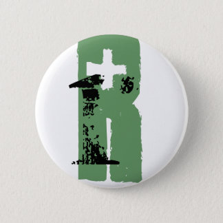R monogram 6 cm round badge
