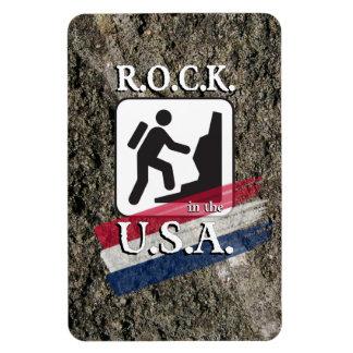 R.O.C.K. in the U.S.A. - Hiker Magnet