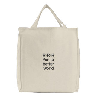 R-R-R for a better world Canvas Bag
