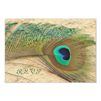 R.S.V.P. PEACOCK FEATHER MATCHING INVITATIONS