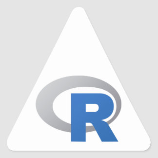 R Statistical Software Products Triangle Sticker
