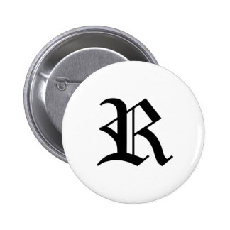 R-text Old English Button