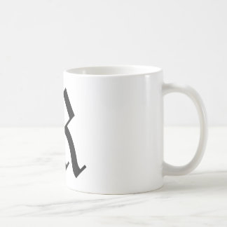 R-text Old English Basic White Mug
