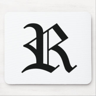 R-text Old English Mouse Pad