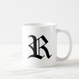 R-text Old English Mugs