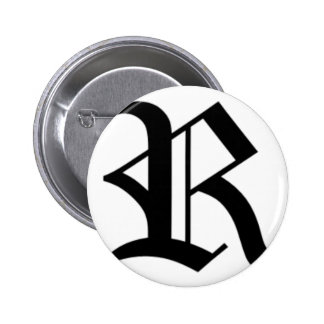 R-text Old English Pinback Buttons