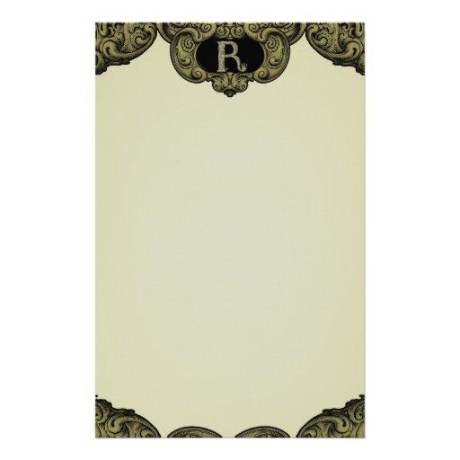 R - The Falck Alphabet (Golden) Customized Stationery